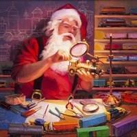 Santa the Train Master Fine Art Print