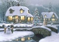 Christmas Eve At Holbrook Cottage Fine Art Print