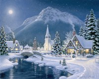 Christmas Village Fine Art Print