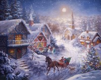 In A One Horse Open Sleigh Fine Art Print