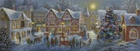 Christmas Village Panoramic Fine Art Print