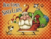 Santa Both Pets Fine Art Print