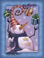 Snowman Juggle Fine Art Print