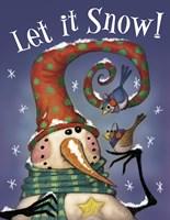 Snowman Birds 3 Framed Print