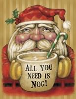 Santa Mug Framed Print