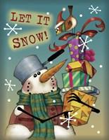 Panhead Snowman Framed Print