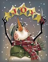 Snowman Stars Framed Print