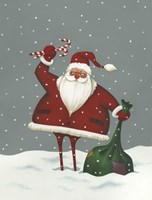 Santa's Bag of Toys Fine Art Print