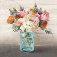 French Cottage Bouquet II Fine Art Print
