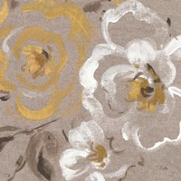 Brushed Petals III Gold Fine Art Print