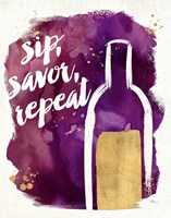 Watercolor Wine II Framed Print