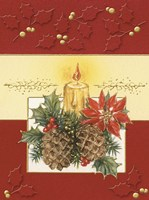 Acorn and Holiday Candle Fine Art Print