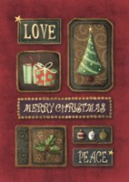 Love Merry Christmas Peace Fine Art Print