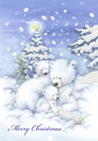 Merry Christmas Polar Bears Fine Art Print