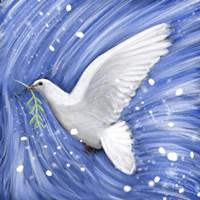 Dove In The Winter Wind Fine Art Print