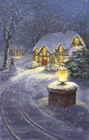 Snowy Winter Christmas Road Home Fine Art Print