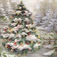 Christmas Tree In Snowy Woods Fine Art Print