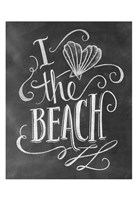 I Love The Beach Fine Art Print