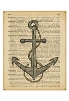 Nautical Series - Anchor Framed Print