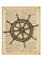 Nautical Series - Ship Wheel Framed Print
