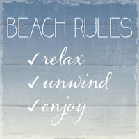 Beach Rules Framed Print