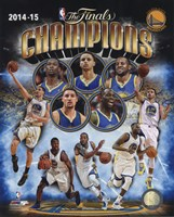 Golden State Warriors 2015 NBA Finals Champions Composite Framed Print