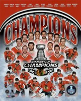 Chicago Blackhawks 2015 Stanley Cup Champions Composite Framed Print