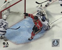 Duncan Keith Goal Game 6 of the 2015 Stanley Cup Finals Fine Art Print