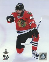 Patrick Kane Goal Celebration Game 6 of the 2015 Stanley Cup Finals Framed Print