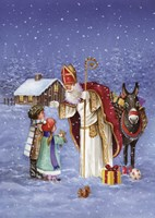 Saint Nicholas And The Children Fine Art Print