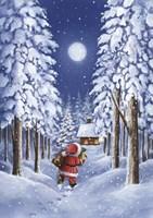 Santa's Trail Fine Art Print