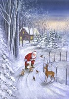 Santa Along The Way Fine Art Print