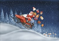 Santa's Snowmobile Framed Print