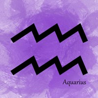 Aquarius - Violet Framed Print