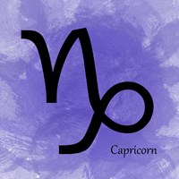 Capricorn - Purple Framed Print