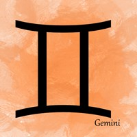 Gemini - Orange Framed Print