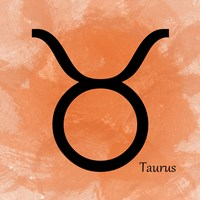 Taurus - Orange Fine Art Print