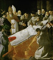 Death of Saint Bonaventura, 1627 Fine Art Print