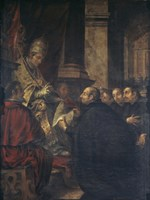 Saint Ignatius of Loyola Receives Papal Bull from Pope Paul III Fine Art Print