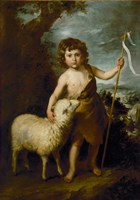 Young John the Baptist with the Lamb Fine Art Print