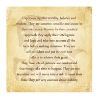 Capricorn Character Traits Fine Art Print