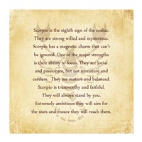 Scorpio Character Traits Framed Print