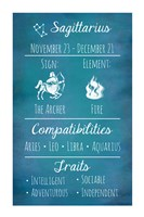 Sagittarius Zodiac Sign Framed Print