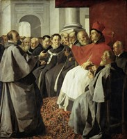 Saint Bonaventura at the Church Council of Lyon Fine Art Print
