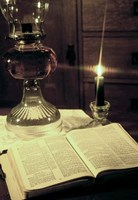 Bible & Lamp Fine Art Print