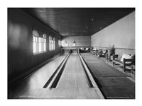 Bowling alleys, Paul Smith's Casino Fine Art Print