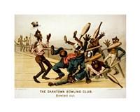 The Darktown Bowling Club: Bowled Out Fine Art Print