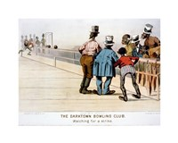 The Darktown Bowling Club: Watching for a Strike Fine Art Print