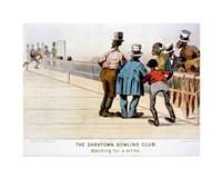 The Darktown Bowling Club: Watching for a Strike Fine Art Print