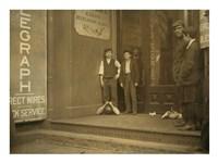 Bowling Alley Boys, New Haven, Connecticut Fine Art Print